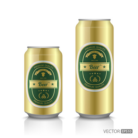 beer can: Beer can with beer label,vector