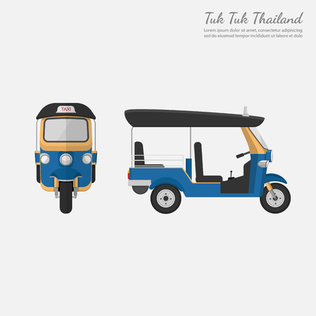 Tuk Tuk in Thailand.vector Vector