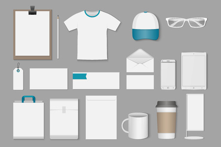 exhibition stand: Corporate identity templates,vector