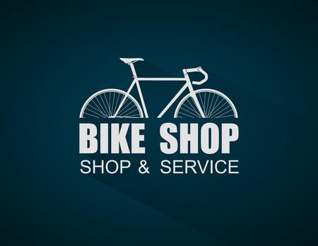 Bike Shop logo template,vector  イラスト・ベクター素材