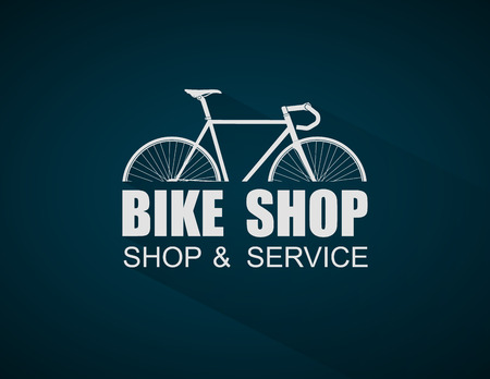 Bike Shop logo template,vector Stock Illustratie
