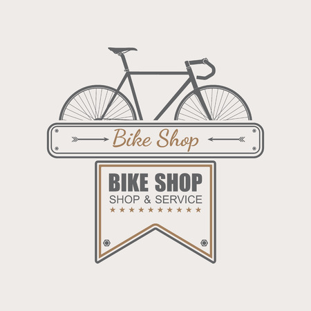 bicycle icon: Bike Shop logo template,vector Illustration