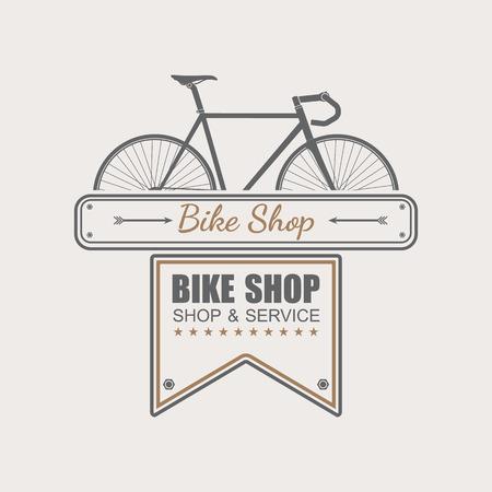 bicicleta vector: Tienda Bike logotipo de la plantilla, vector