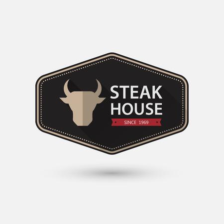 Steak House retro vintage Label.vector Vector