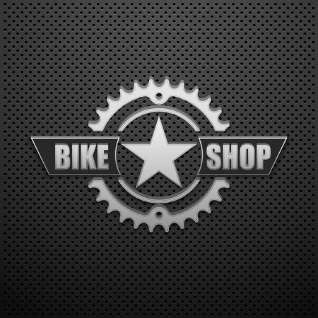 bike ride: BIKE SHOP logo design.vector