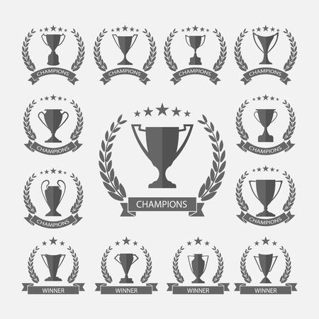 trofeo: Trofeo y premios, vector