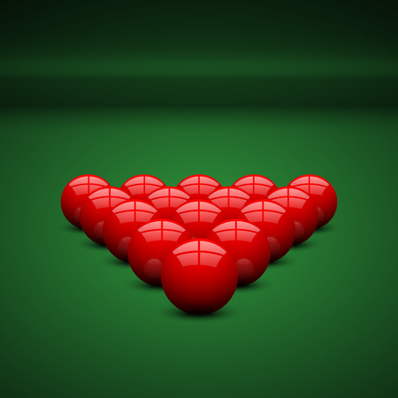 snooker: Snooker ball on snooker table.vector