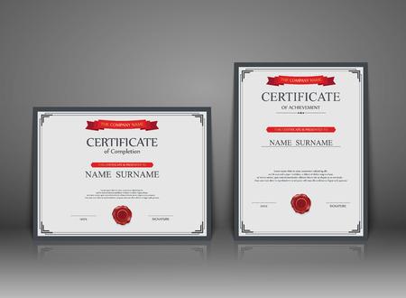 honor: Vector certificate template. Illustration