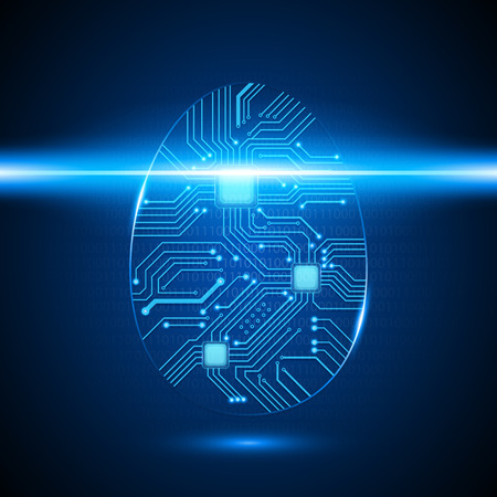 fingers: Circuit Board huella digital vectorial Vectores