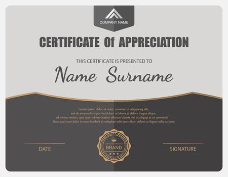 certificate background: Vector certificate template. Illustration