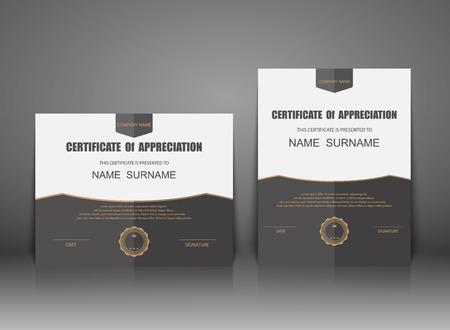 Vector certificate template. Ilustrace