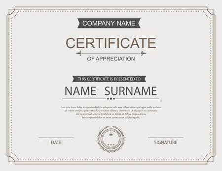 Plantilla de certificado vector. Foto de archivo - 41188305
