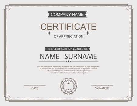 gift background: Vector certificate template. Illustration