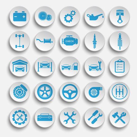 Vector Auto repair Icons Stock Photo