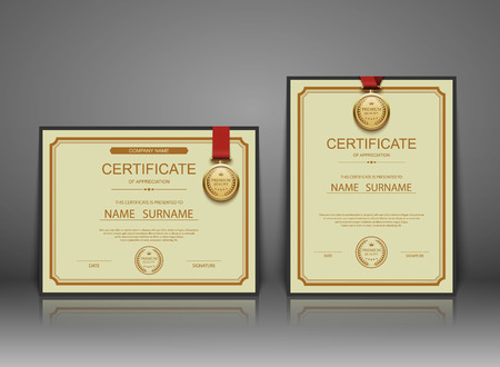 elegant design: Vector certificate template. Illustration