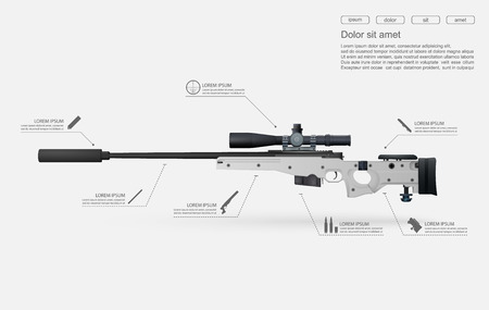 force: Sniper rifle vector