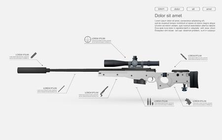 Sniper rifle vector