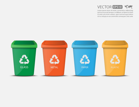 Recycle Binsvector 免版税图像 - 41757688