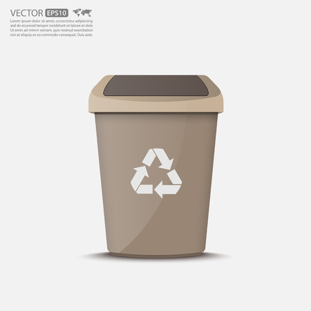 dumpster: Recycle Bin Iconvector