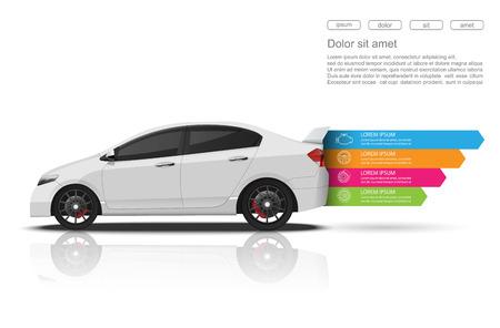 Auto auto dienst infographics design.Vector