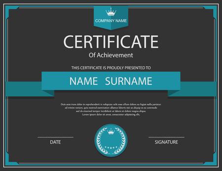 Vector certificate template. Imagens - 41760519