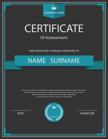 Vector certificate template. Imagens - 41760538