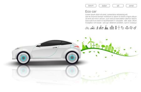 eco innovation: ECO car concept.vector