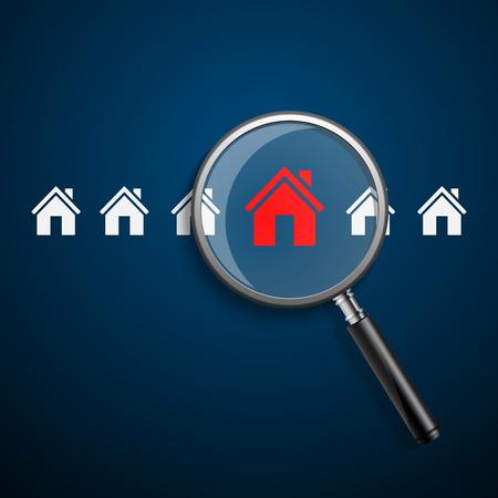 Procura casa de home.vector Ilustração