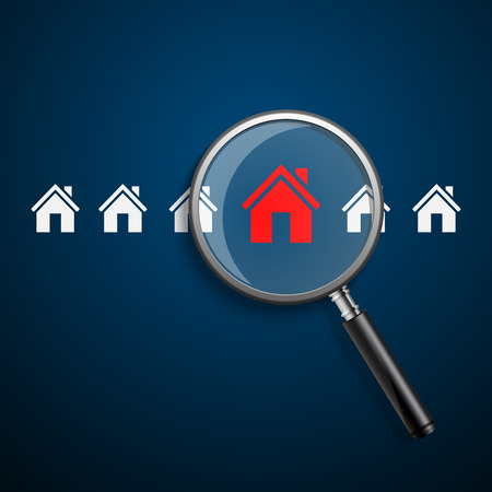 house sale: Searching for house of home.vector
