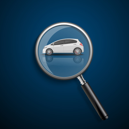 looks: Looking For Car. Illustration