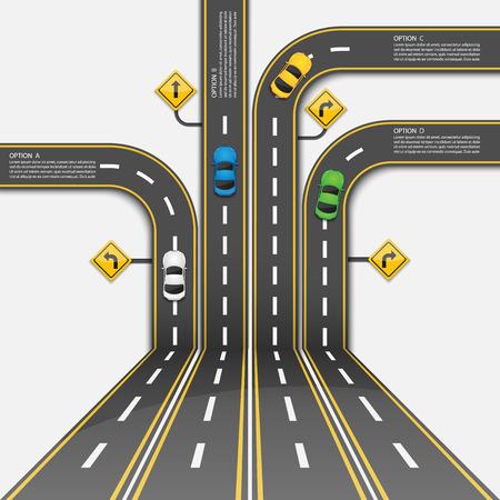 carretera: plantilla de certificado.