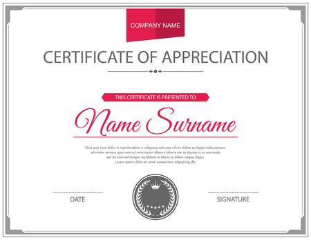 sellos: Plantilla de certificado vector.