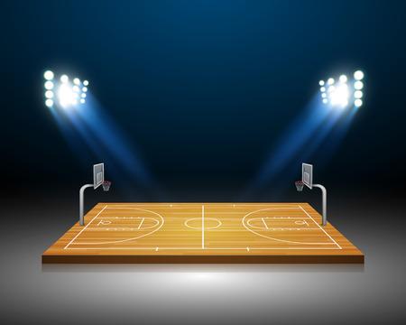 cancha de basquetbol: Cancha de baloncesto