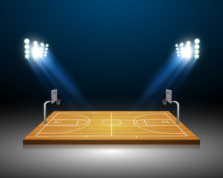 terrain de basket: De basket-ball