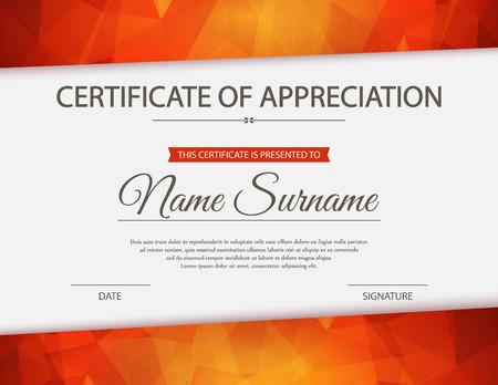 appreciation: certificate template