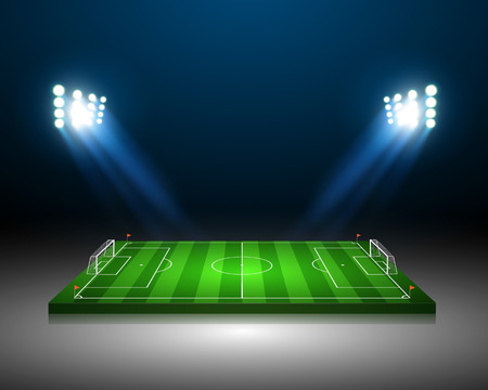 soccer kick: Soccer field  Illustration