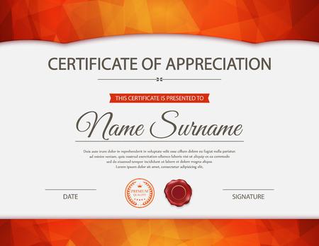reconocimientos: plantilla de certificado.