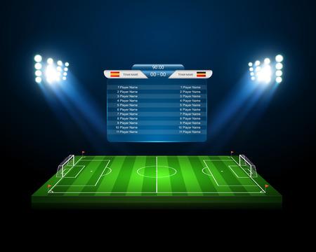 Campo de fútbol  Foto de archivo - 42540304