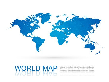 world: Polygonal World Map
