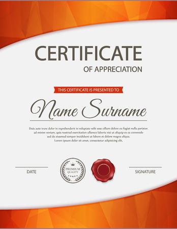 diploma: plantilla de certificado