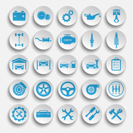 chassis: Auto repair Icons Illustration
