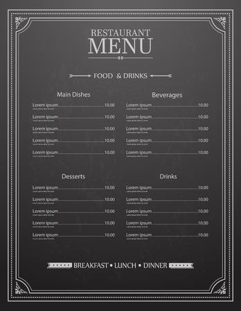menu de postres: Diseño del menú del restaurante