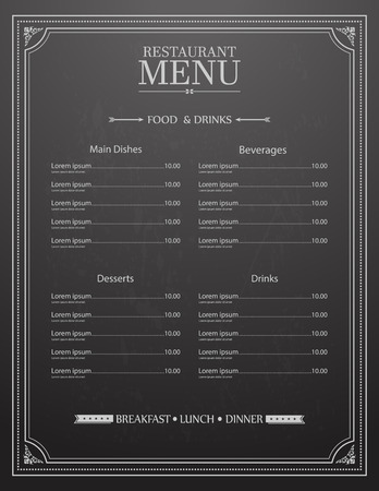 Restaurant Menu Design Фото со стока - 42540522