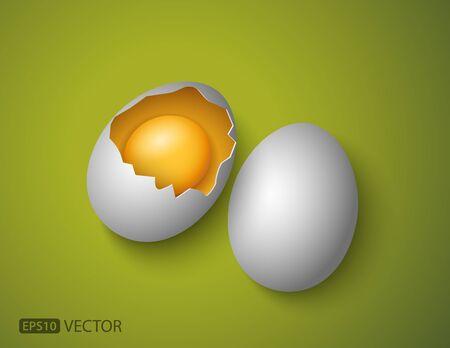broken egg: Broken egg