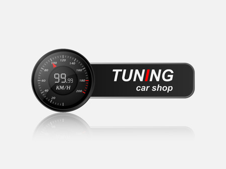 Tuning car shop logo