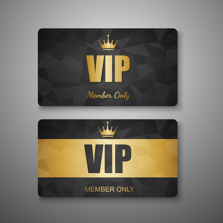 exclusive icon: VIP card template