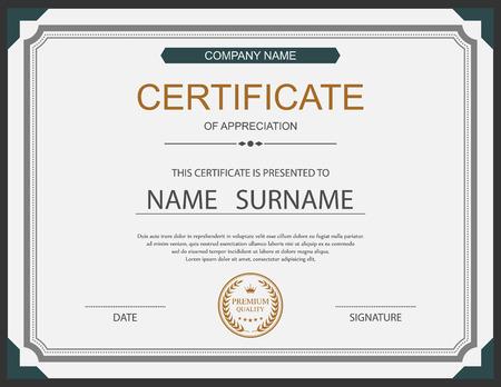 certificate: certificate template