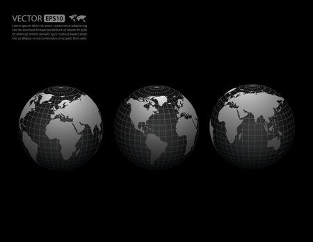 mapa mundi: icono de globo