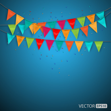 the festival: Festive background with flags