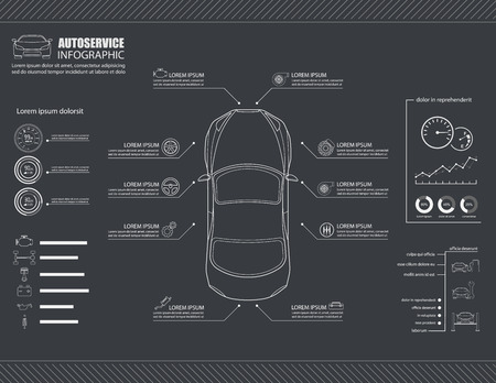 Car auto service info graphics design